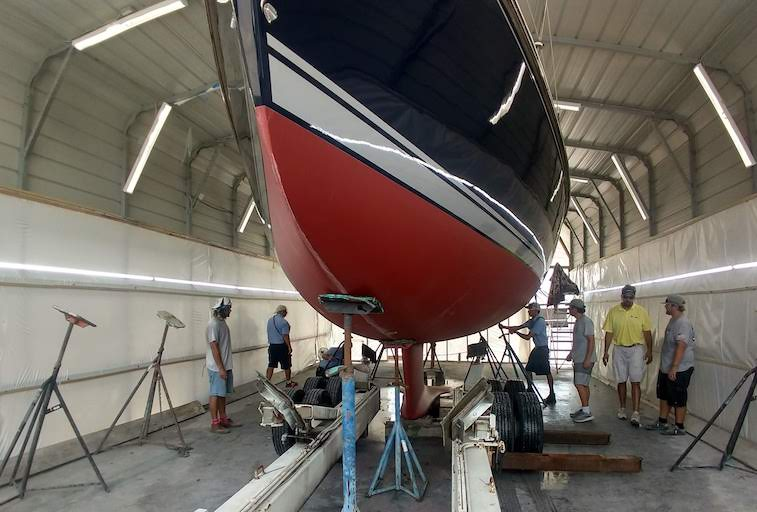 Sea Hawk Bottom Paint Application